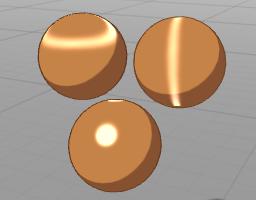 Hiarシェーダーのハイライト変化のサンプル画像。